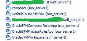 1. Deploy the OracleBPMWorkspaceon adf_server1