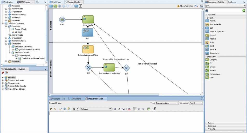 Oracle Fusion Middleware - BPMN Processes