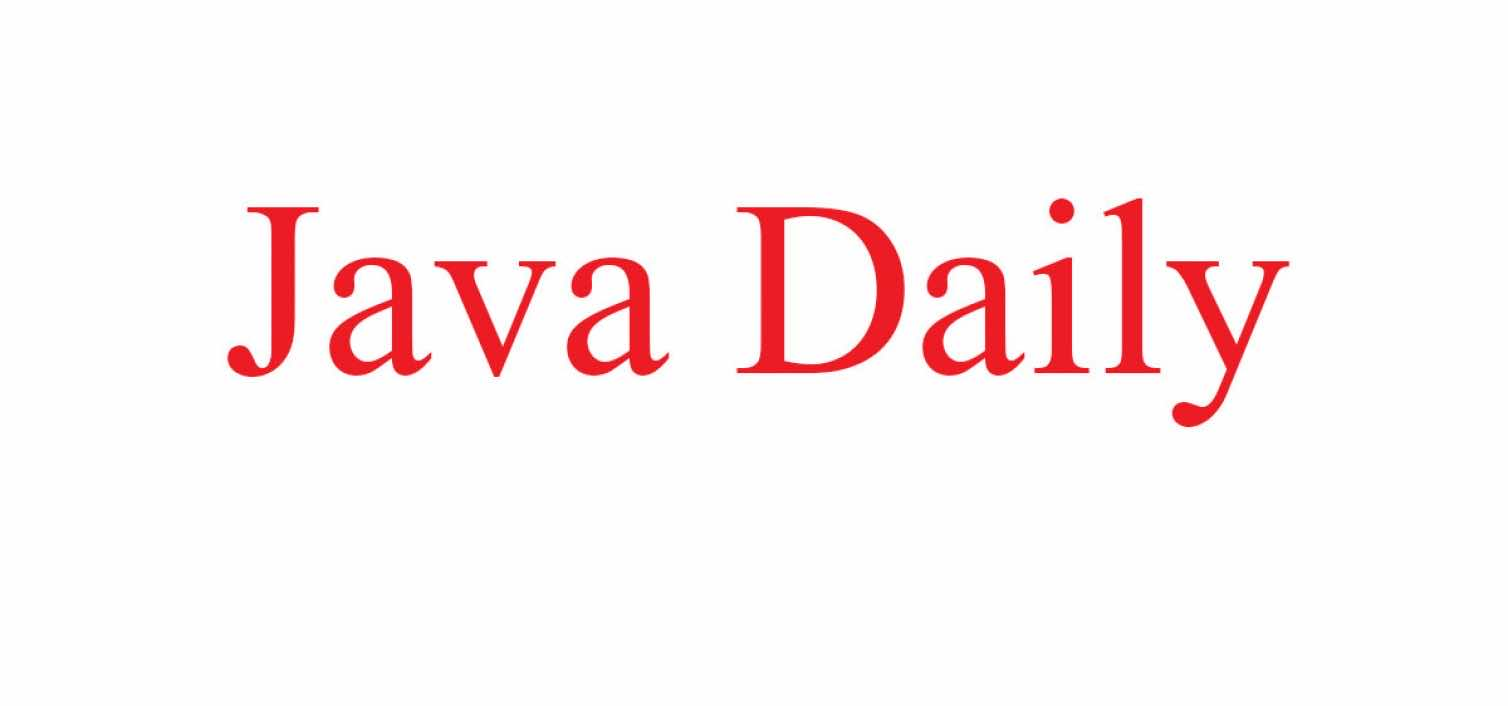 The Java Daily 13/2/18